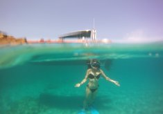Pack with catamaran trip around south coast beaches and boat trip around north coast beaches