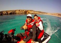Paddle surf excursion north coast (marine reserve) and 1 hour jet ski trip