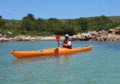 alquiler kayak travesia menorca