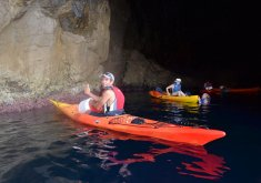 Pack kayaking + snorkelling in the marine reserve and 30 minutes jet ski trip