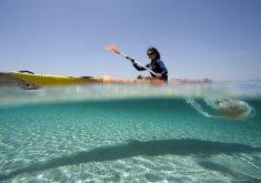 Kayaking + snorkelling in the marine reserve of Menorca