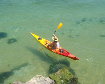 Kayaking trip with snorkelling in the marine reserve of Menorca