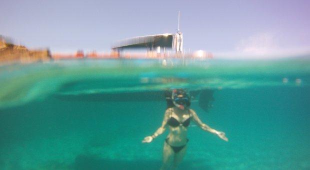 snorkel con lancha menorca