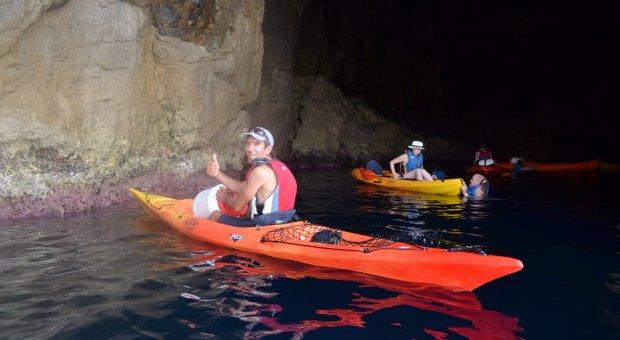 kayak cuevas menorca