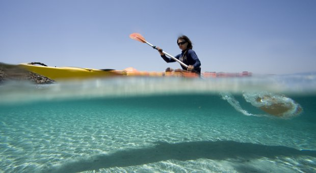 Kayaking + snorkelling in the marine reserve of Menorca